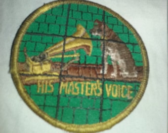 His Master's voice emboidered patch