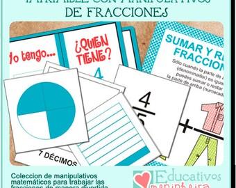 Manipulativos de fracciones -español-