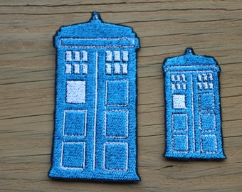 Doctor Who Tardis iron-on patch