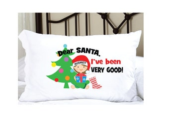 Personalized Christmas Pillowcase with Elf