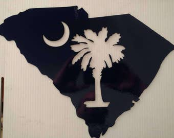 SC State w/ Palmetto Tree and Crescent Moon