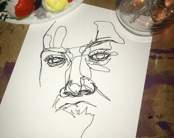 Single Line Art Print : Line drawing etsy