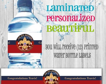 Eagle Scout water bottle labels (set of 12)
