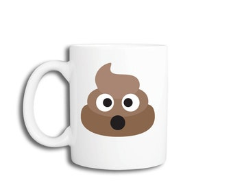 Funny Coffee Mug - Poo Emoji
