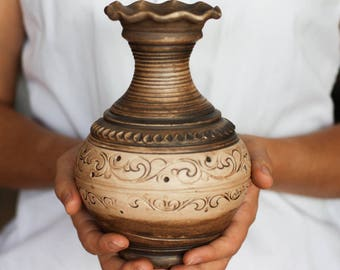 Flower vase Wedding vase Birthday gift Rustic wedding Wedding centerpiece Rustic vase Christmas gift wedding decor Ceramic vase Home decor