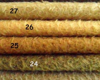 MDV. Choisissez votre propre ensemble de 3, 1/16 morceaux de Schulte mohair. Va faire joli ours vintage. 3 x 25/35 cm