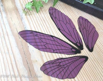 Fairy wings for craft, Large size, Violet Rain, transparent Purple wings, Cicada Style, diy fairy wings, craft wings, art doll wings