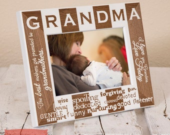 Gifts for Grandma - Personalized Grandma Picture Frame - Grandma Mothers Day Gift - Personalized Christmas Gifts - Grandma Gifts