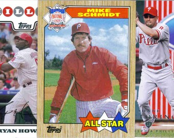 PHILADELPHIA PHILLIES Baseball Team Lot - 250 Assorted Cards