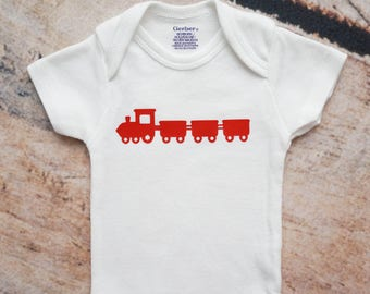 Choo Choo Train Baby ONESIES®, Baby Shower Gift, Baby Outfit, Baby Boy Onesie, Coming Home Outfit, Locomotive Baby Gift, Train Nursery Decor