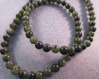 Canadian Jade 5mm Round Beads 76pcs