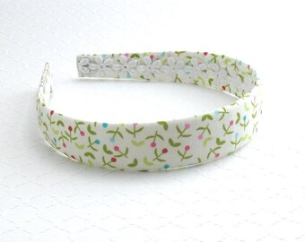 Girls / Adults Fabric Headband ~ Plastic Fabric Covered Headband ~ Floral Headband ~ Hard Headband for Girls & Women