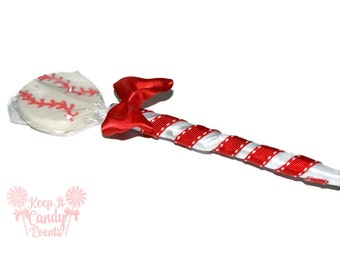 Baseball Lollipop Pen, Baseball Candy Pen, Baseball Party Favor, Baseball Pen, Baseball Team Party Candy, Baseball Theme, Sports Party Favor