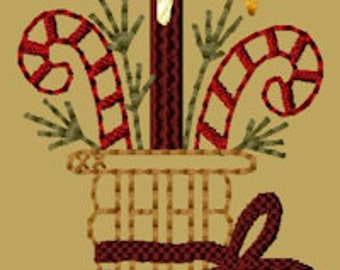 MACHINE EMBROIDERY-Basket of Canes-Colorwork-4x4-Instant Download
