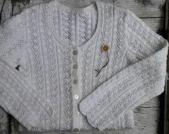 Cotton white Cardigan