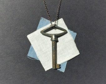 Genuine Antique German Key Necklace