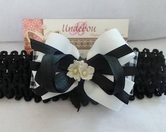 Dressy Black and White Headband - Black Baby Headband - Black and White Headband