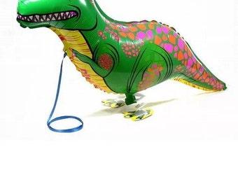Walking floating dinosaur Helium Balloon