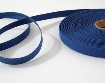 """Royal Blue Cotton Twill Tape Trim- 5/8"""" wide - 5 yards - Sewing Trim Supplies - Woven Flat Tape Sewing Trim for Decoration, Ribbon, Sewing"""