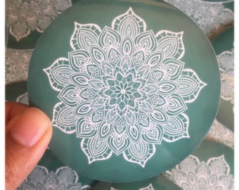 Marble Mandala Circle Sticker