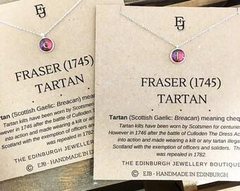 Outlander Inspired Personalised Initial Fraser Tartan Pendant