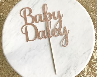 Baby shower cake topper, baby cake topper, baby shower decor