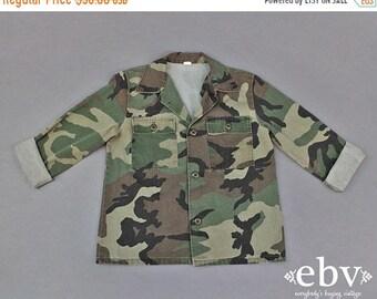Vintage préados Camo Vintage veste Camouflage veste des années 90 Grunge Vintage garçon Vintage de la jeune fille d'enfant Oversized armée veste jeunesse XXL 18