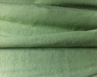 green • pure solid Linen Fabric 001126 0.54yd  (0,5m)