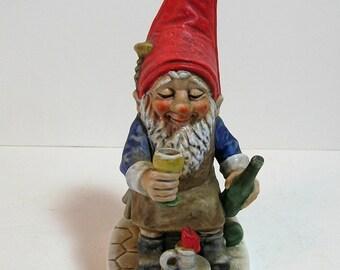 Goebel Co- Boy Elf Figurine, Ed Drinking Wine