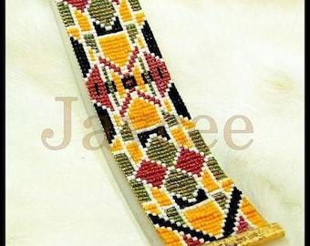 Bead Pattern - Stained Glass bracelet - Loom stitch