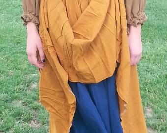 Renaissance 4 gored drawstring skirt