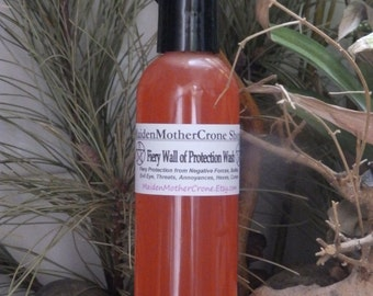 Fiery Wall Wash Cleanser Wicca Pagan Spirituality Religion Ceremonies Hoodoo Metaphysical MaidenMotherCrone