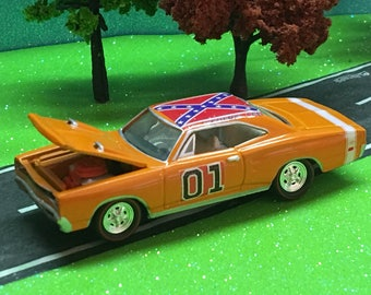 dukes of hazzard, general lee, 1969 dodge charger r/t se, 1/64 scale, custom, very detailed #3952