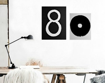 "Black, White 18""x24"" Painting Abstract Painting Minimalist Art Modern Artwork Original Painting Contemporary"