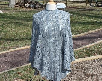 Knit shawl pattern, lace pattern, knit shawl triangle pattern, knit lace shawl pattern, knit lace pattern, knit triangle shawl pattern