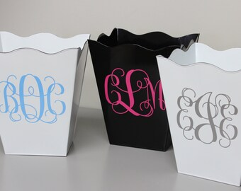 Monogrammed Trash Can - Personalized Trash Can - Monogrammed Waste Basket - Monogrammed Gift - Graduation Gift - Household Decor - Monogram