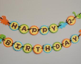 Dinosaur Banner, Dino Party, Dinosaur Birthday Banner