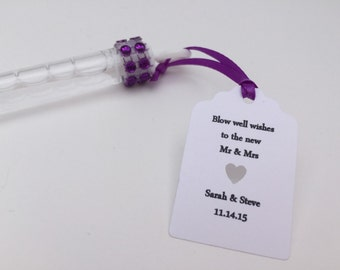 Wedding Bubble Wands: Wedding Favors/ Wedding Bubbles, Purple Wedding Bubbles
