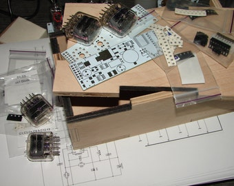 Nixie tube clock kit 2.3 with IN-12 Tubes in wood box