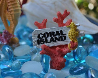 Coral Island Sign