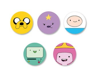 Pine Ø25mm Pinback Button Badge set - O38mm / Adventure Time with Finn & Jake o38mm Magnet