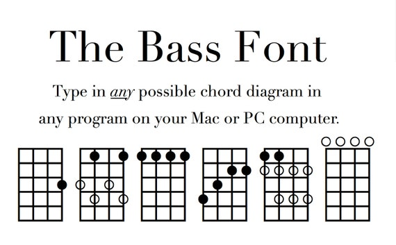 Bass Chord Font Notate Chord Diagrams On A Pc Or Mac Free