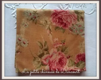 Pink ochre Lecien Antique large fabric coupon