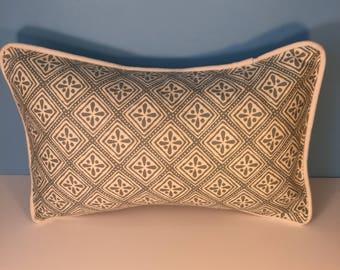"""20x13"""" Decorative Corded Pillow Cover - Soft Sage 20x13 Lumbar"""
