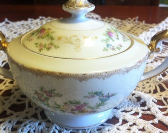 Vintage Meito China,Flora Pattern, Sugar Bowl, Hand Painted, Home and Living,  Meito China, Flora Pattern, colectibles.Kitchen and Dining