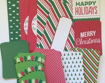 Christmas - Project Life Cards, Happy Holidays, Journaling Cards, Destash