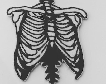 Ribcage Embroidered Patch