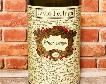 Livio Felluga Pinot Grigio Wine Bottle Candle