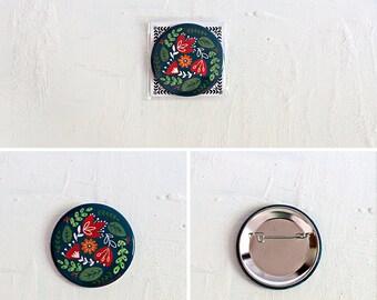 Pin Button - Blue