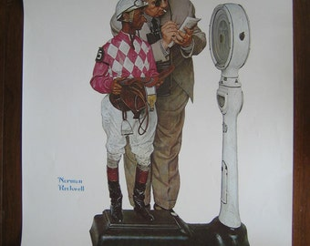 Norman Rockwell Weighing In Poster - Print